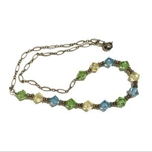 925 Necklace Chain and Colorful Beads